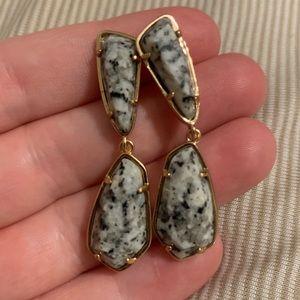 Kendra Scott marble stud dangle earrings